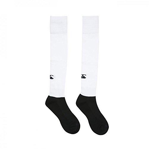 Canterbury Plain Playing Sock, White- Large