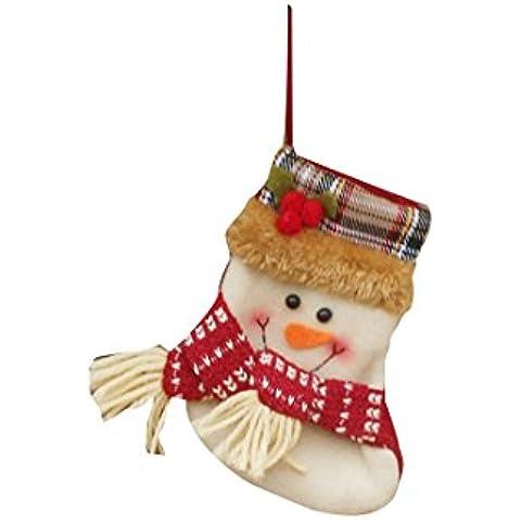 Navidad regalo de Navidad Calcetines de embalaje Decoración del ornamento del árbol de Suministros Bolsas-muñeco de nieve