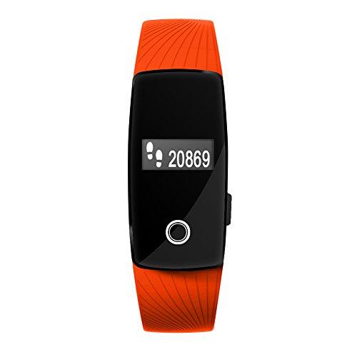 Kivors® Smart Uhr ID107 Fitness Tracker Uhr mit Herzfrequenz Monitor Bluetooth Sportuhr Wasserdichte Aktivität Tracker Gesunde Wristband Uhr Fit für iPhone IOS Android Smartphones