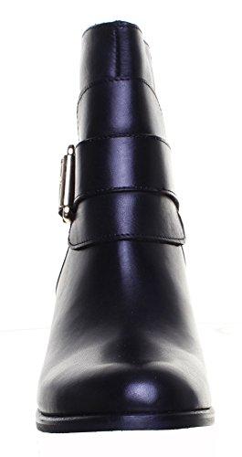 Justin Reece Giulia Femme Talon Cheville Mid en cuir Bottes Noir - Black FF