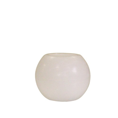 Greemotion LED-Kugelkerze 15cm aus echtem Wachs, Weiß, 17x17x17cm