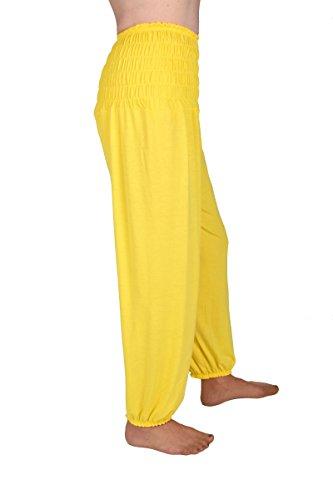 Damen Haremshose und Pluderhose in Universalgröße (Universalgröße, Gelb) (Aladdin Hosen Kostüm)