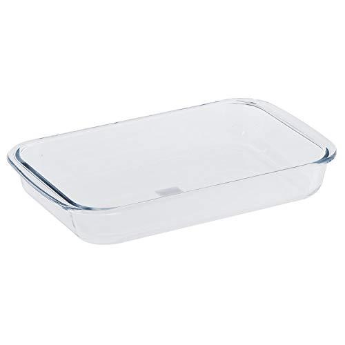 Royalford Plat à rôtir carré en verre borosilicate, cocotte de cuisson, plaque de cuisson en verre résistant au four