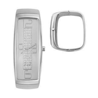 Dolce&Gabbana DW0233 – Reloj analógico de cuarzo para mujer, correa de acero inoxidable color plateado
