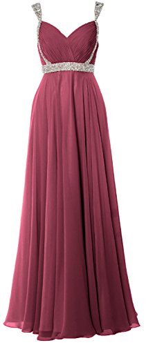 MACloth -  Vestito  - linea ad a - Senza maniche  - Donna Wine Red 62