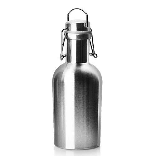 GG-home Edelstahl Flachmann, aktualisierte Lebensmittelqualität Flasche mit Trichter Set 64 Unzen für Whisky und Alkohol zum Wandern, Jagd, Camping -