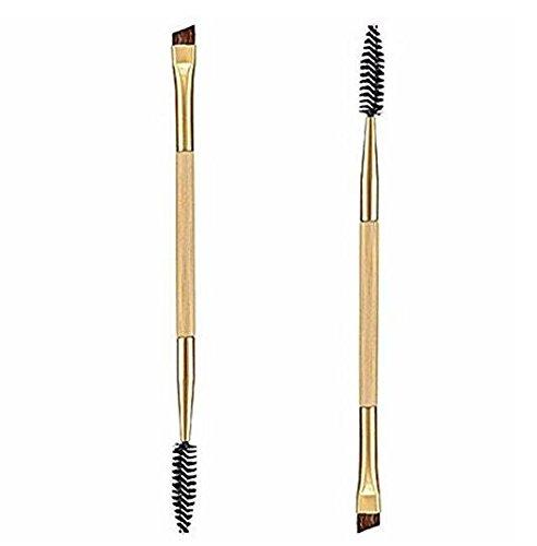 Newin Star Brosse de Sourcils, sourcils de pinceau, double du Brosse 1PCS du maquillage de bambou de la manija avec peigne sourcils