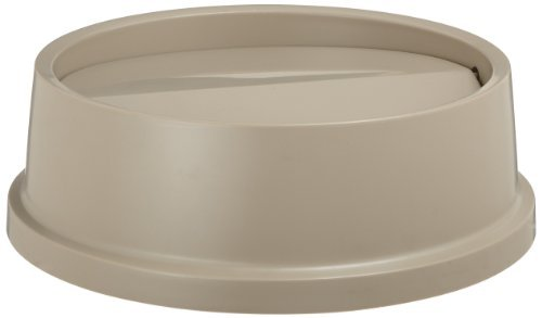 Rubbermaid Commercial FG267200BEIG HIPS Untouchable Round Trash Can Swing Top, 16-1/8-inch, Beige by Rubbermaid Commercial Products