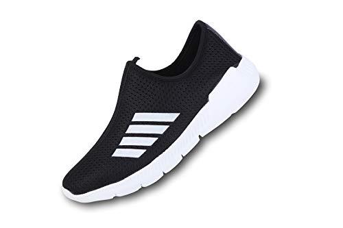 PROWESS Unisex Ultra Light Weight Mesh Running Sports Shoe (6UK, Black)