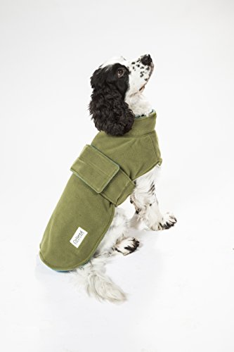 Collared Creatures Dog Drying Coat, Towling-Microfiber Lined Fleece Jacket Geen (available sizes XS, S, M, L, XL, XXL… 4