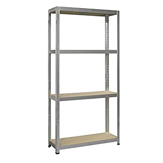 Avasco 5400431641004 Strong 175 Shelving Unit with 4 Shelves 176 x 90 x 30 cm