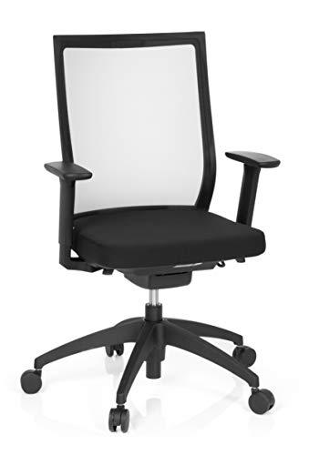 hjh OFFICE 657620 Bürostuhl Aspen Schwarz Schreibtischstuhl ergonomisch mit selbstheilendem Netzrücken