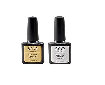 CCO UV LED Nail Gel Polish, Top and Base Coat