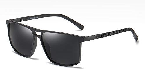 WDXDP Sonnenbrillen Tr90 Polarisierte Sonnenbrille Quadrat Männer Ultraleicht Sommer Geschenk Männlich Quadrat Sonnenbrille Für Männer Polarisierte Fahren Als Show In Foto Mattschwarz