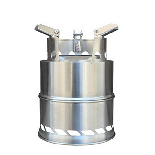 ZinESaya Acero Inoxidable portátil Plegable Estufa de leña Estufa de Alcohol a...