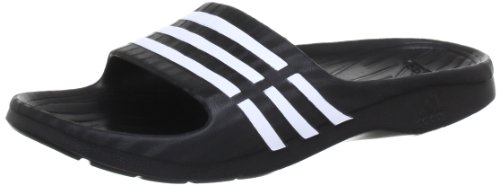 adidas Performance Duramo Sleek, Damen Dusch- & Badeschuhe, Schwarz (Black 1/White/Black 1), 39 EU (6 Damen UK)