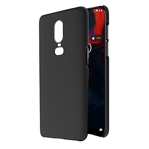 Amazon Brand - Solimo OnePlus 6 Mobile Cover (Hard Back & Slim), Black