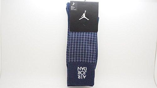 [642207-410] Air Jordan Stencil Crew Sock Accessories Socks Air JORDANNAVY Blue Grey (Jordan Stencil)