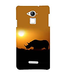 printtech Nature Animal Rhino Back Case Cover for Coolpad Note 3 Lite