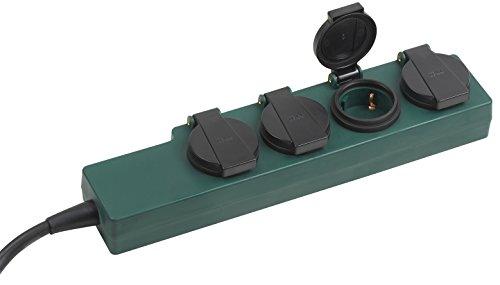 Meister Steckdosenleiste 4-fach - 1,4 m Kabel - Gummischlauchleitung - IP44 Außenbereich / Verteilersteckdose / Feuchtraum-Steckdosenverteiler / Outdoor-Steckdosenleiste / 7430910