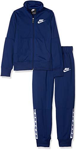 Nike G NSW TRK Tricot Trainingsanzug, Mädchen M Blau (Blue Void/White)
