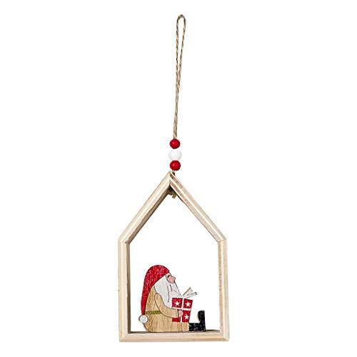 Mitlfuny Festival dekor,Christmas,Halloween,Weihnachtsdekoration,Halloween deko,Halloween kostüm,Haus geformt Weihnachtsbaum hängen Anhänger aus Holz kleine hängende - Wind Sock Kostüm