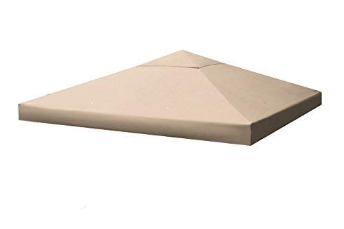 Sekey copertura gazebo/sostituzione del baldacchino per gazebo/tenda pieghevole da festa/tenda da esterno, con sbocco e rivestimento impermeabile,taupe,uv 50+,3 x 3 m
