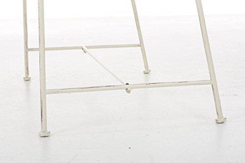 CLP Gartenbank MAGDA im Landhausstil, Eisen lackiert, 106 x 52 cm Antik Creme - 8