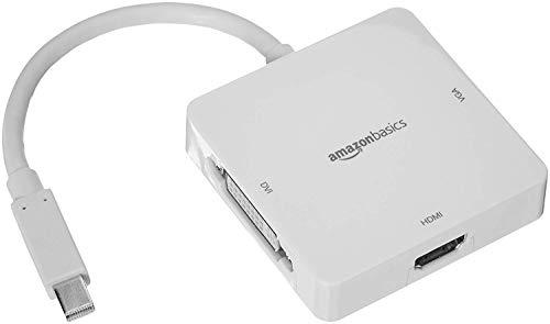 AmazonBasics - Adaptador Mini DisplayPort HDMI/DVI/VGA