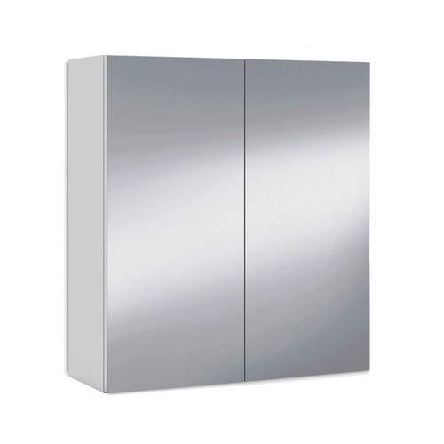 ARKITMOBEL 305083BO - Mueble Camerino Dos Puertas para Baño, Modulo con Espejo y Estantes, Acabado...