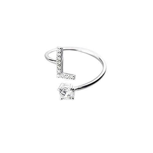 Kostüm Ringe Diamant - Floweworld Mode Einfache Ring Damen Ajustable Open Ring 26 Buchstaben Mit Diamant Ring Damen Schmuck Zubehör Geschenk