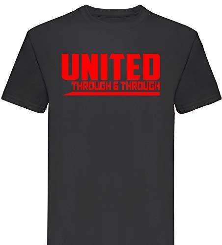 3700c2b8a8f4f Manchester United Through and Through Premium T Shirt Gift Mens Football  Club FC (X-