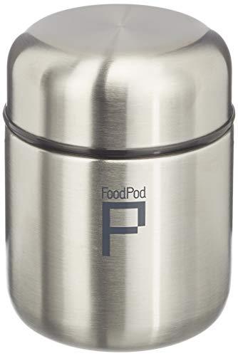 Pioneer FoodPod Thermo-Speisebehälter 280 ml Edelstahl Doppelwandig Isolierbecher für Lebensmittel 6 Stunden Heiß 24 Stunden Kühl Auslaufsicher BPA-Frei - Stahl