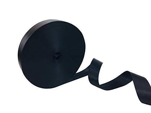 Sicherheitsgurt, Schwarz, Polyester, Meterware, Widerstand 2,8 Tonnen, Breite 48 mm, wird auf Rolle verkauft, 50 m, NOIRE, 1