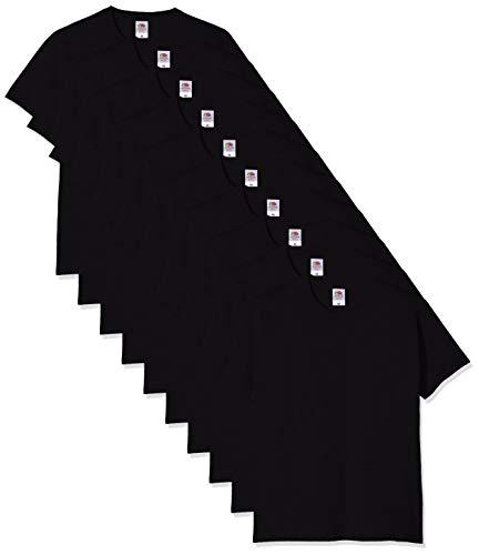 Fruit of the Loom Herren Heavy Cotton 10 Pack Tee T-Shirt, Schwarz (Black 36), XX-Large (erPack -