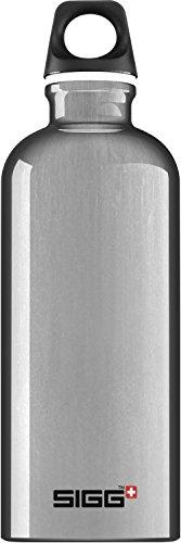 SIGG Traveller Alu, Wandern Trinkflasche, 0.6 L, Aluminium, BPA Frei, Silber