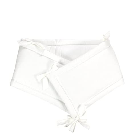 Sugarapple Baby Nestchen Bettumrandung dick gepolstert für 120 x 60 cm Babybetten, Kopfschutz und Kantenschutz für Kinderbetten, Bettnestchen Maße: 200 x 30 cm, Uni weiß