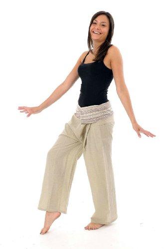 - Pantalon Fisherman chanvre - taille unique
