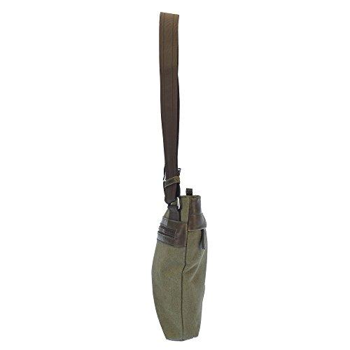 U.S.POLO ASSN. Umhängetasche mit Fronttasche und Gesäßtasche 20x4x22 cm Militärgrün