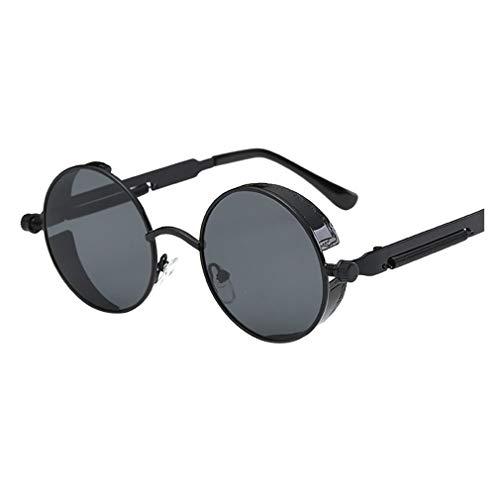 Rosennie Damen und Herren Vintage Sonnenbrillen Retro Eyewear Unisex Pilotenbrille Sunglasses Dünne Brille Freizeit Flieger Sonnenbrille Klassische UV-400 Designer Brille