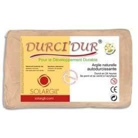 Solargil - Argile Naturelle autodurcissante Durci'Dur - pain de 10 kg - Jaune d'Or