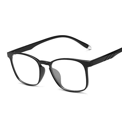 Transparente ultraleichte TR90-Computerschutzbrille Anti Blu Ray Plain-Brille Brille (Color : 02 schwarz, Size : Kostenlos)
