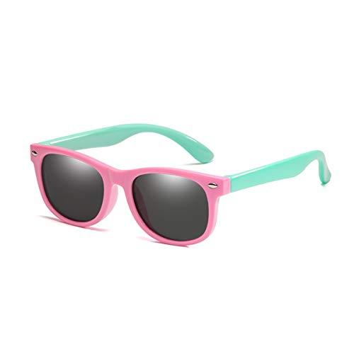 DYFDHA Sonnenbrillen Flexible Polarized Kids Sunglasses Child Black Sun Glasses For Baby Girls Boy Sunglasses Eyeglasses 1.5-11 Years Kids Glasses Pink Light green