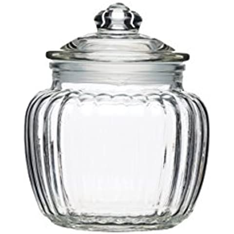 Kitchen Craft Home Made – Tarro, tamaño pequeño, cristal, 600 ml (1 pinta), transparente