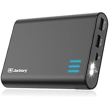 Batterie externe -Jackery Giant+ 12000mAh 2 ports 5V/3.1A Chargeur Portable Power Bank grande capacité coque aluminium piles Panasonic de haute sécurité, pour iPhone, iPad, Samsung, Android, tablette (Noir)