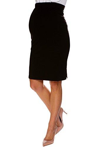 Umstandsrock Tess elegant bequem Bleistift schwarz M (medium) Umstandsmode von MY TUMMY ®©™ (Damen Ponte-bleistift-rock)