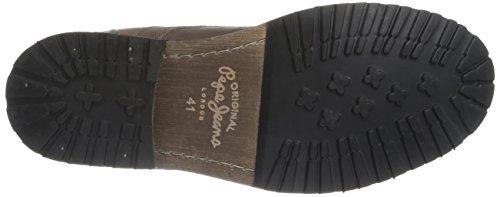 Pepe Jeans London Melting Zipper, Boots homme Marron (889Burnished)