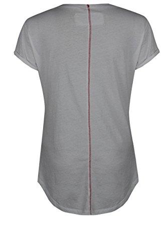 True Prodigy Trueprodigy Casuale Donna Magliette Motivo Stampa, Abbigliamento Urban Moda Girocollo (Manica Corta & Slim Fit Classic), Top Blusa Moda Vestiti Colore: Bianco 1072541-2000 White