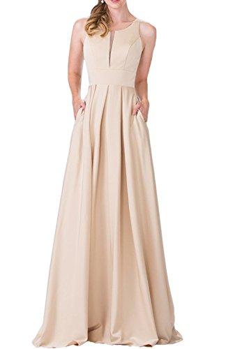 Gorgeous Bride Elegant Lang Empire Satin Tüll 2017 Neu Abendkleider Lang Cocktailkleider Ballkleider Champagner