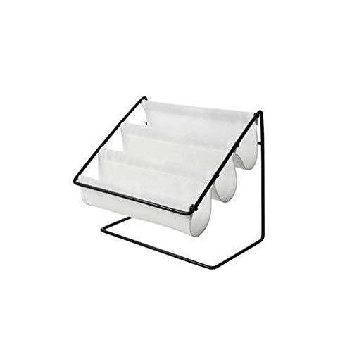 Aufbewahrungsboxen,Rifuli® Tischplattenschmiedeeisen-Glas-Rahmen-Haushalts-Rückstand-Briefpapier-Speicher-Gestell Aufbewahrungsboxen Küche Haushalt Wohnen Aufbewahren